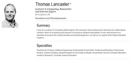 The BranchOut Profile For Thomas Lancaster