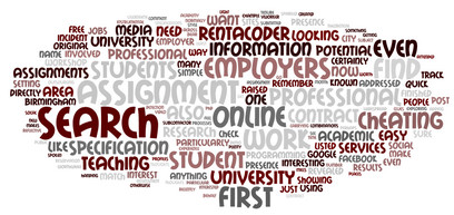 A word cloud for Thomas Lancaster's blog