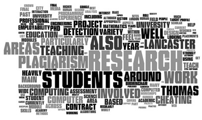 Word Cloud For ThomasLancaster.co.uk