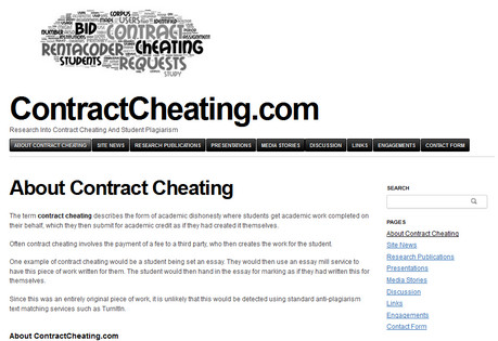 Contract Cheating New Web Site
